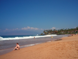 Beautiful Ka'anapali Beach on Maui