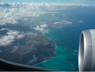 Beautiful Oahu from the air
