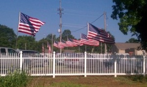 American Flags on Memorial Day 2012
