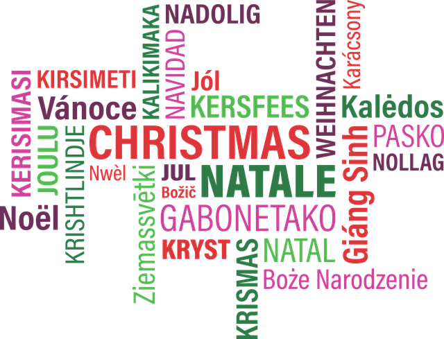 Merry Christmas in 25Languages