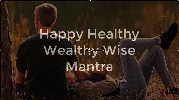 Affirmation: Happy Healthy Wealthy Wise