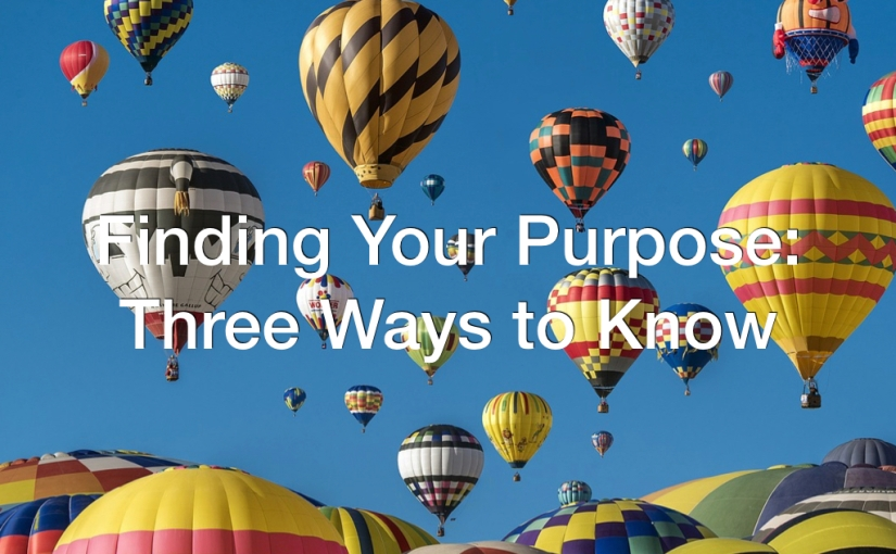 Finding Your Purpose: Three Ways to Know – Day 120 of 365 Days to a BetterYou