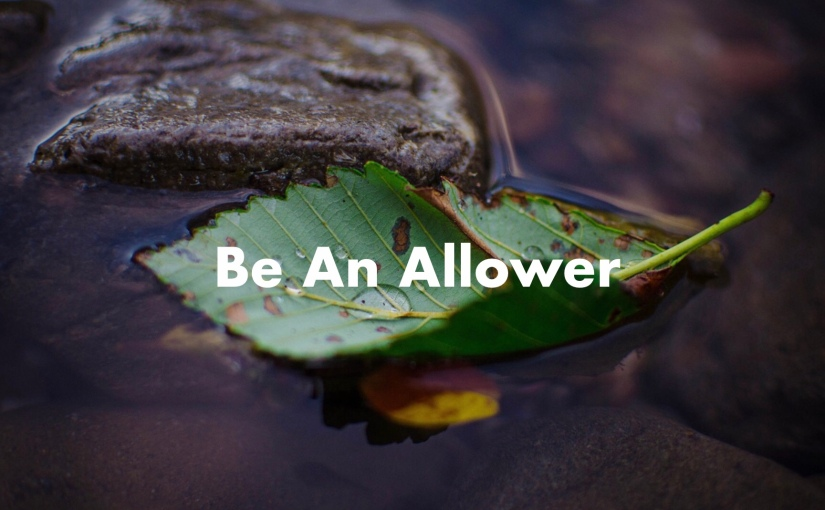 Be An Allower – Day 192 of 365 Days to a Better You