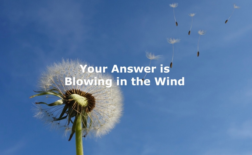 Your Answer is Blowing in the Wind – Day 216 of 365 Days to a Better You