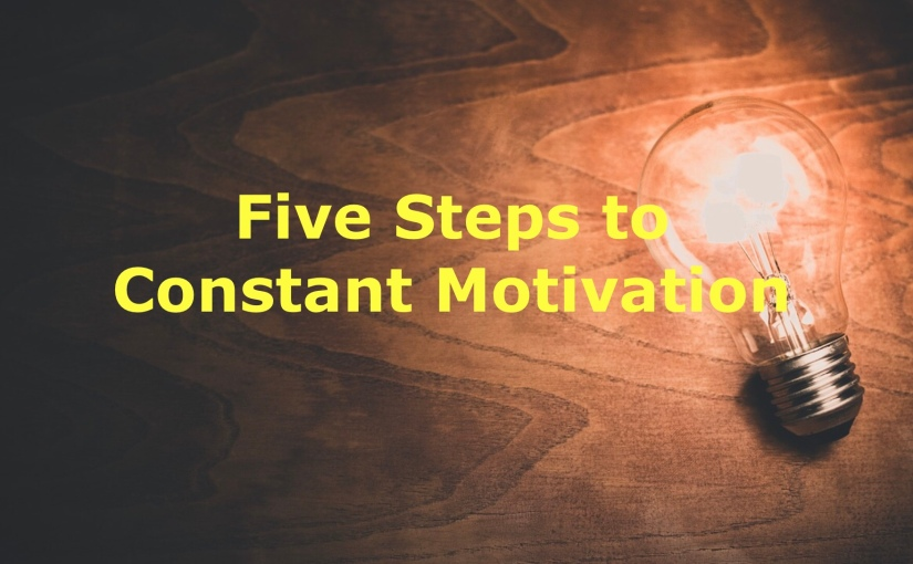 Five Steps to Constant Motivation – Day 234 of 365 Days to a Better You