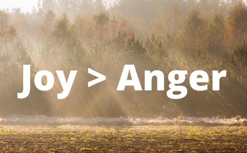 Joy > Anger